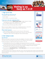 voting easy as 1-2-3, california, voter registration, elections,