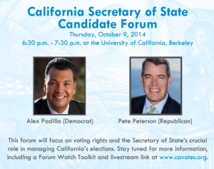 Secretary of State Candidate Forum