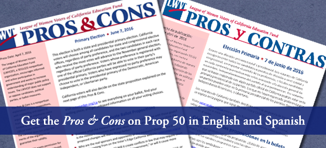 Prop 50, voting, pros and cons, elections, California, nonpartisan