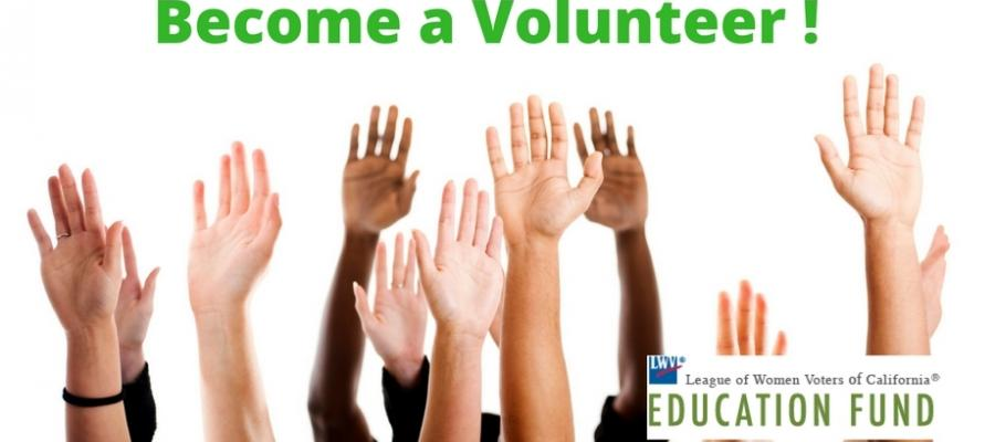 volunteer, community, League of Women Voters of California Education Fund, civiced, activism, local, elections