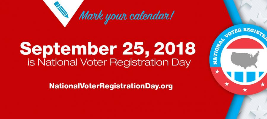 National Voter Registration Day September 25, 2018