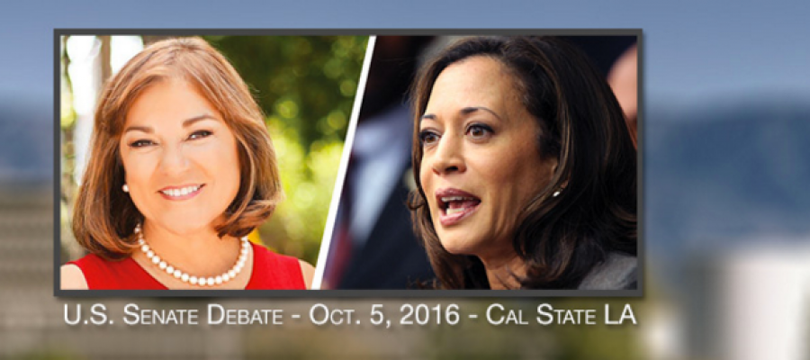 CALSenDebate16, Harris, Sanchez, CAlifornia, CAElections, Debate