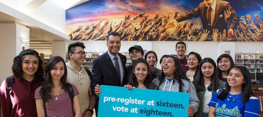Secretary of State Alex padilla Preregistration for 16 and 17 year olds, voter registration, voting, youth, high school