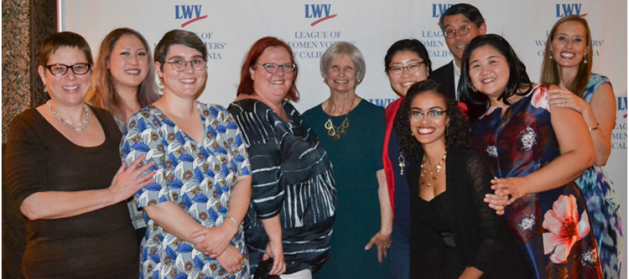 LWVC Staff at Trudy Schafer's retirement party