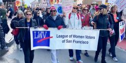 100th birthday League of Women Voters of California, voting, sheisme, women power the vote, elections, sentennial, suffrage