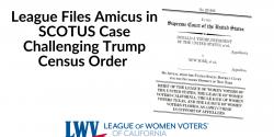 League Files Amicus against Trump Census Order