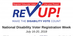 rev up, disability vote, voting rights, elections, voter registration