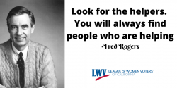 Fred Rogers, look for the helpers