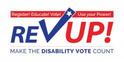 RevUp, disability vote, voter registration, voters with disabilities, league of Women voters of California education Fund