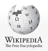 Wikipedia logo - a globe made out of symbols and characters as puzzle pieces